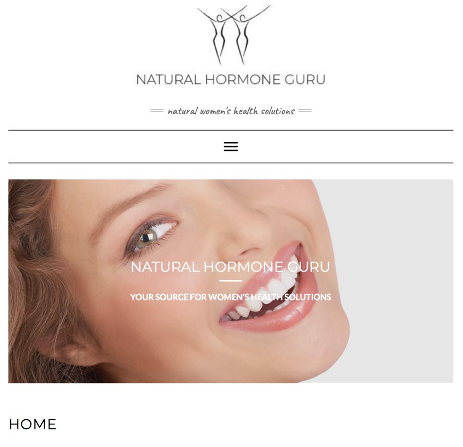 Natural Hormone Guru Webpage